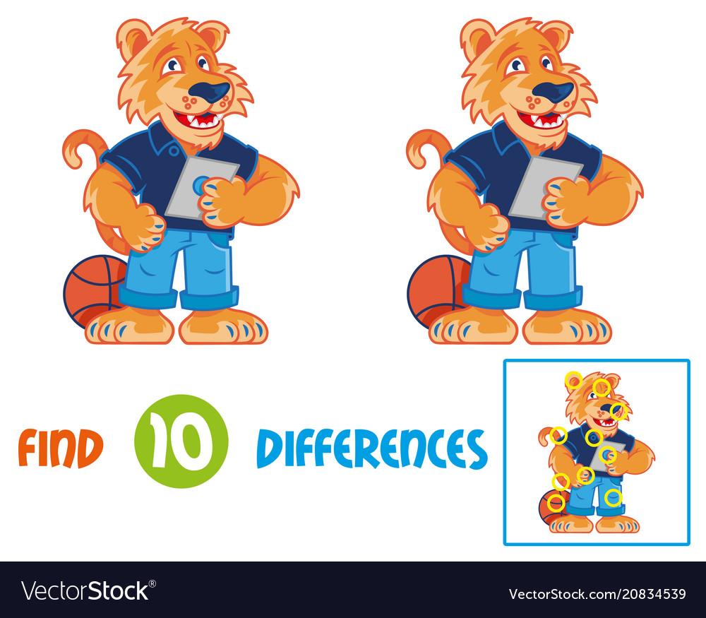 Tiger find 10 differences