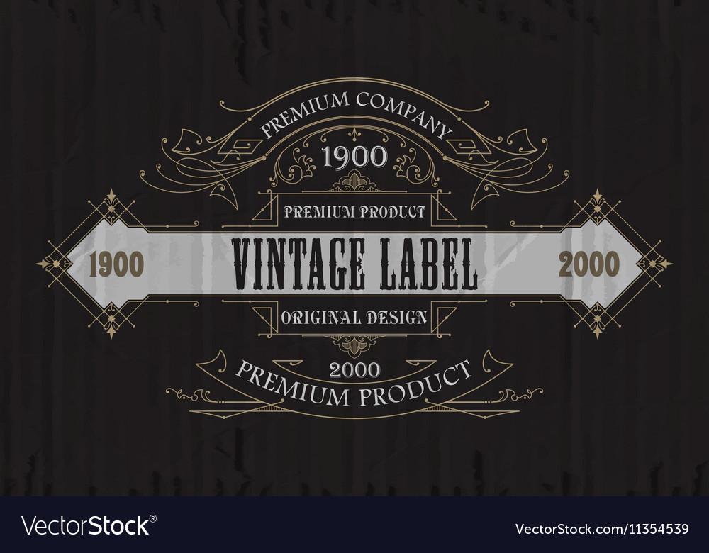 Vintage typographic label premium