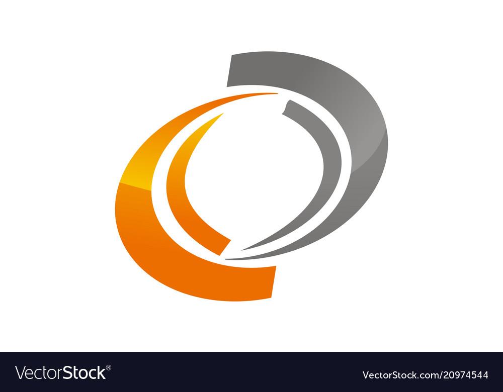 Dynamic rotation logo design template