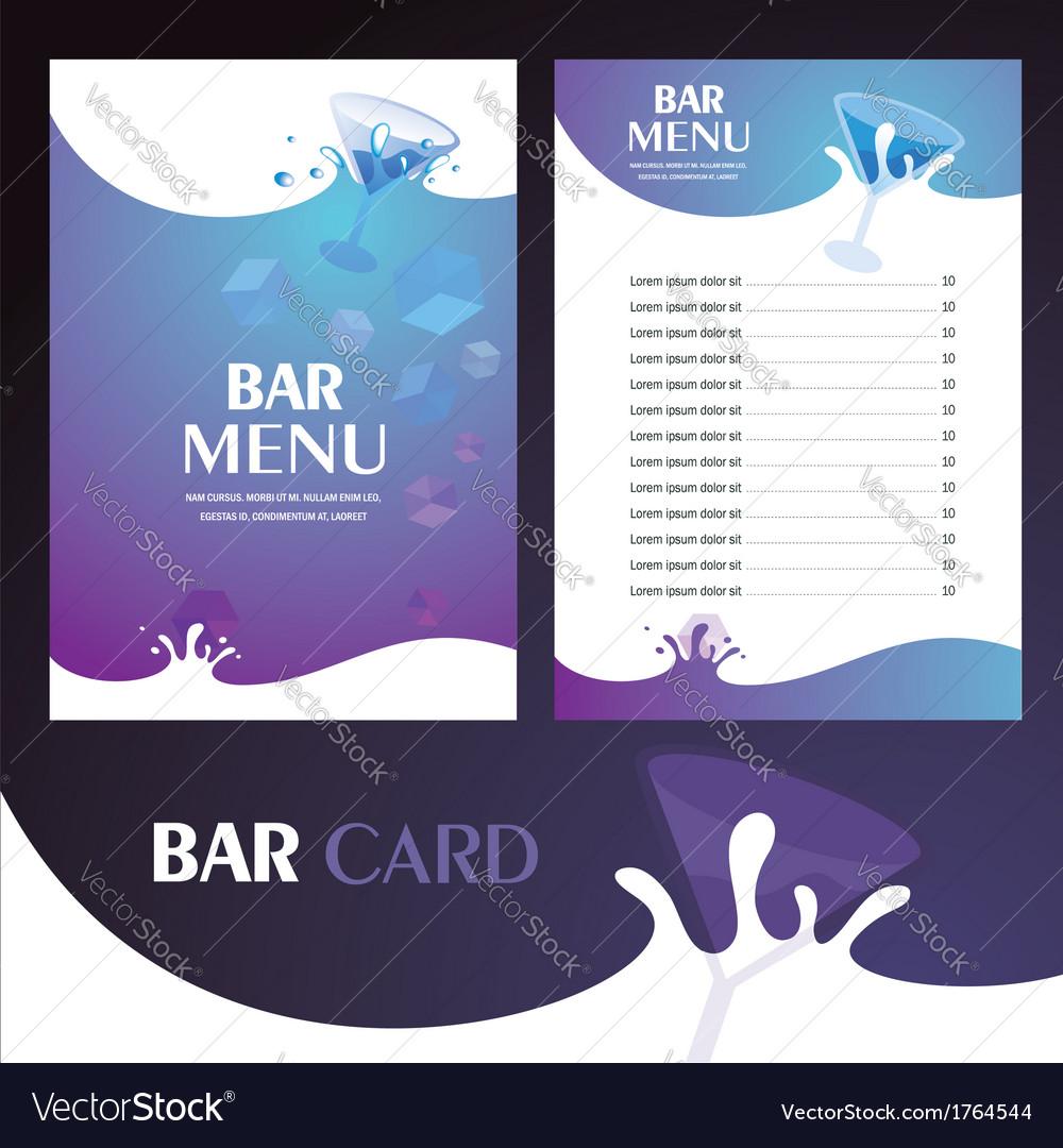 Menu bar card