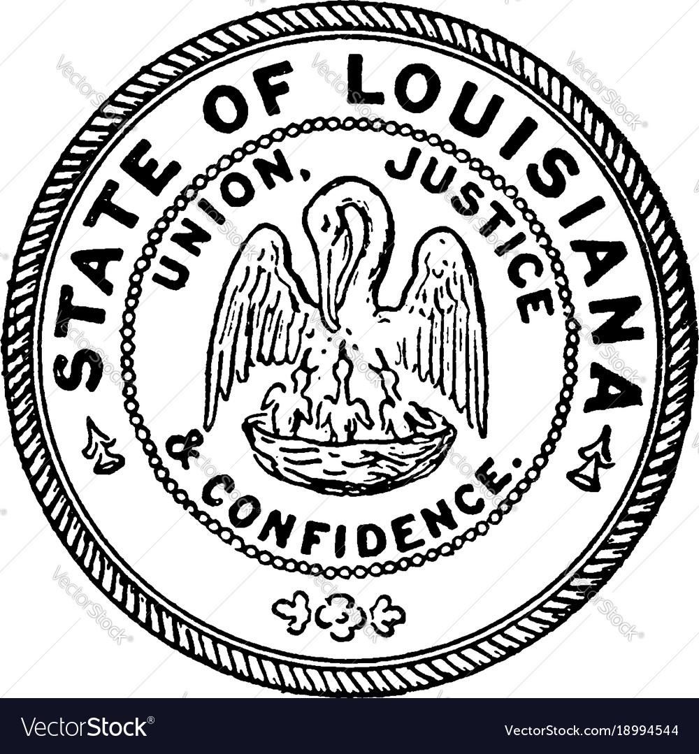 Seal state louisiana vintage