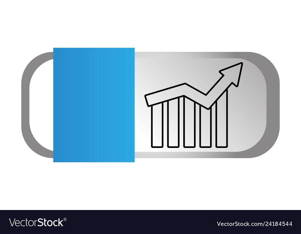 Statistics graphics cartoon