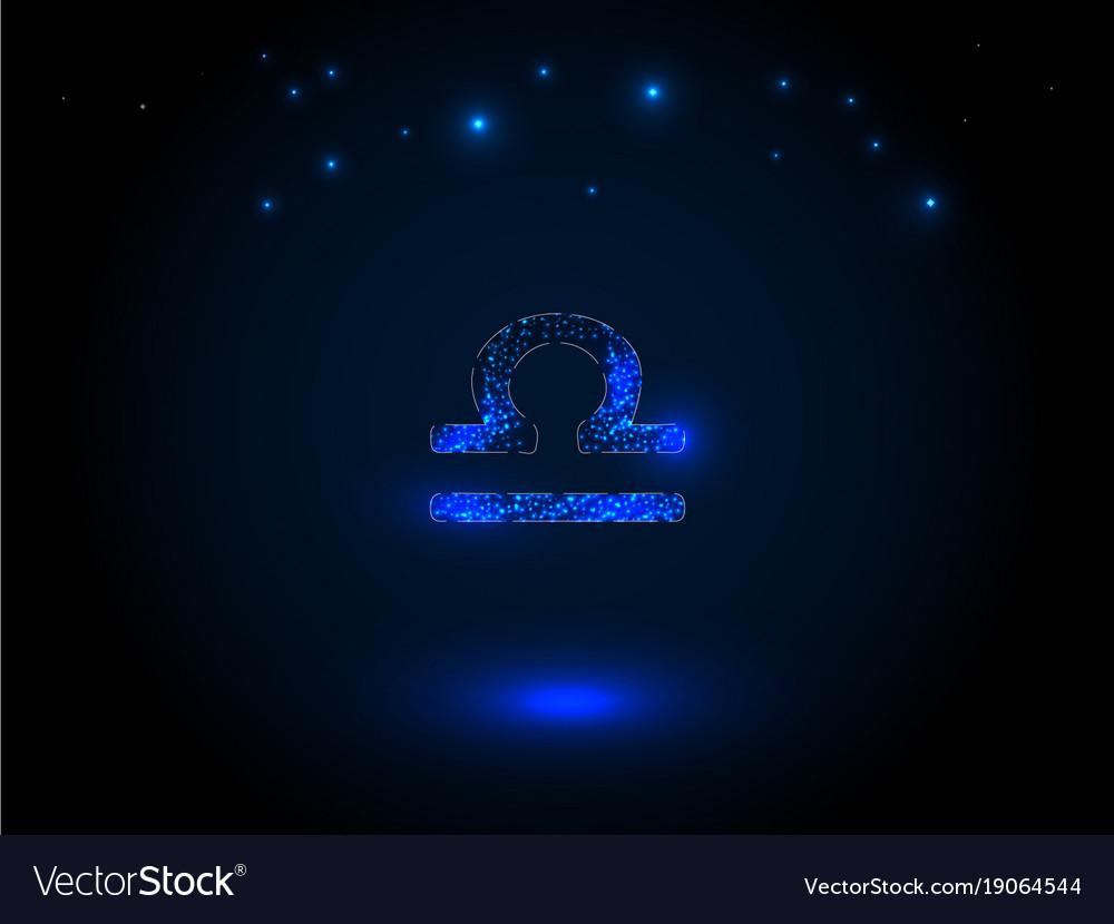 Zodiac sign on the starry sky