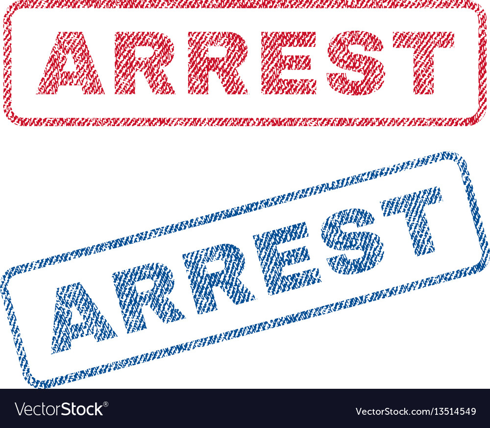 Arrest textile stamps
