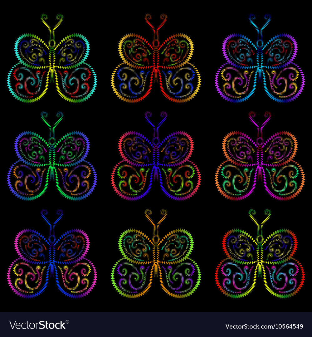 Butterflies of the springs and zigzags