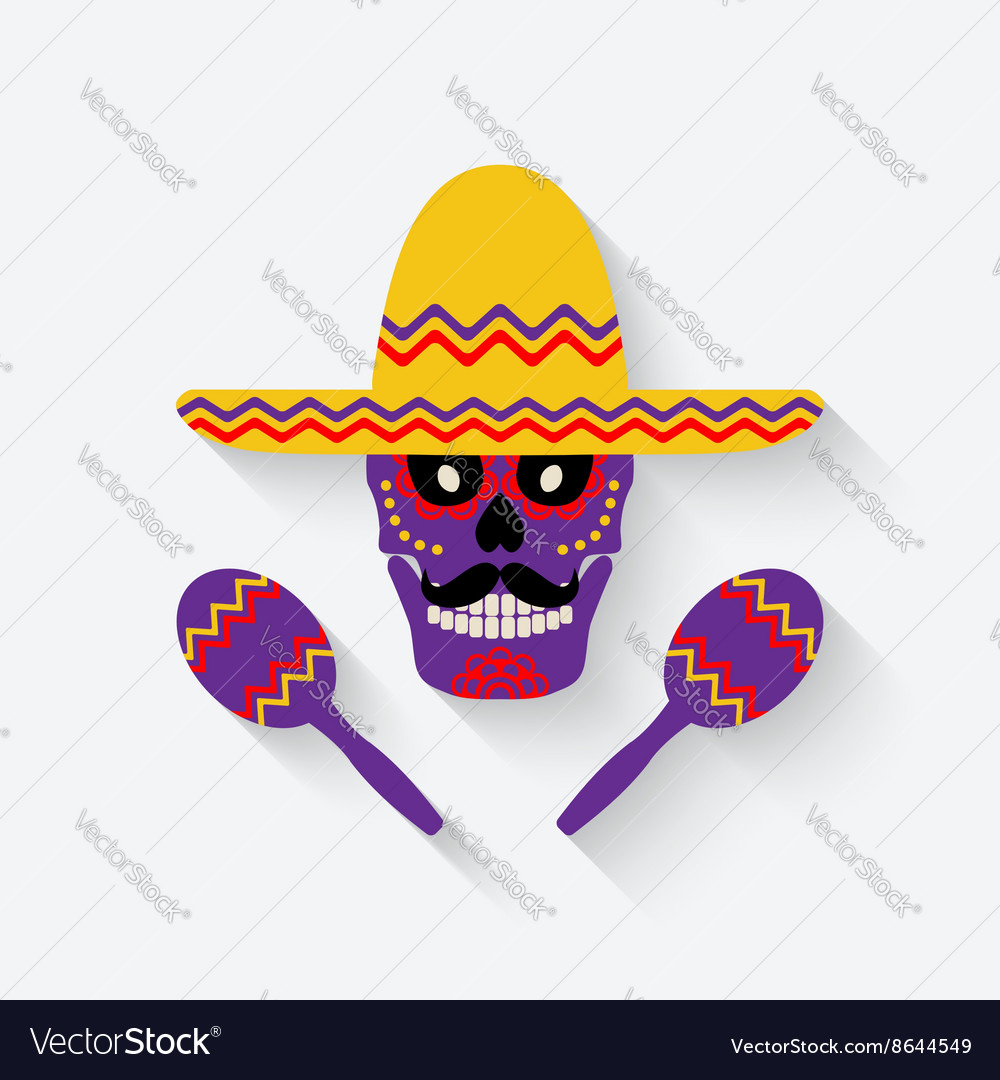 Concept for Day of the dead sugar skull in