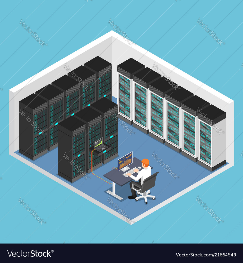 Isometric businessman doing diagnostic test in