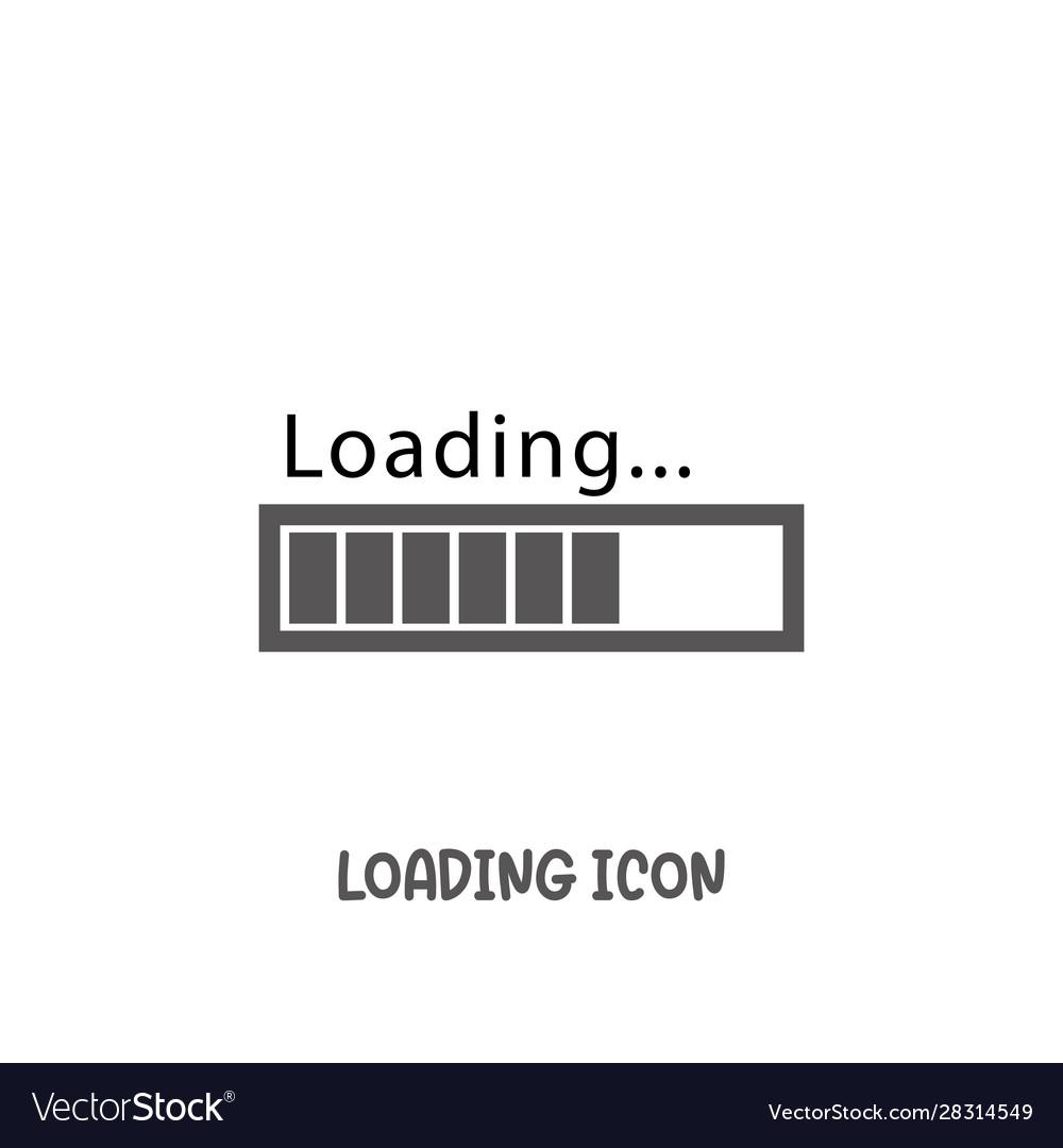Loading bar progress icon simple flat style