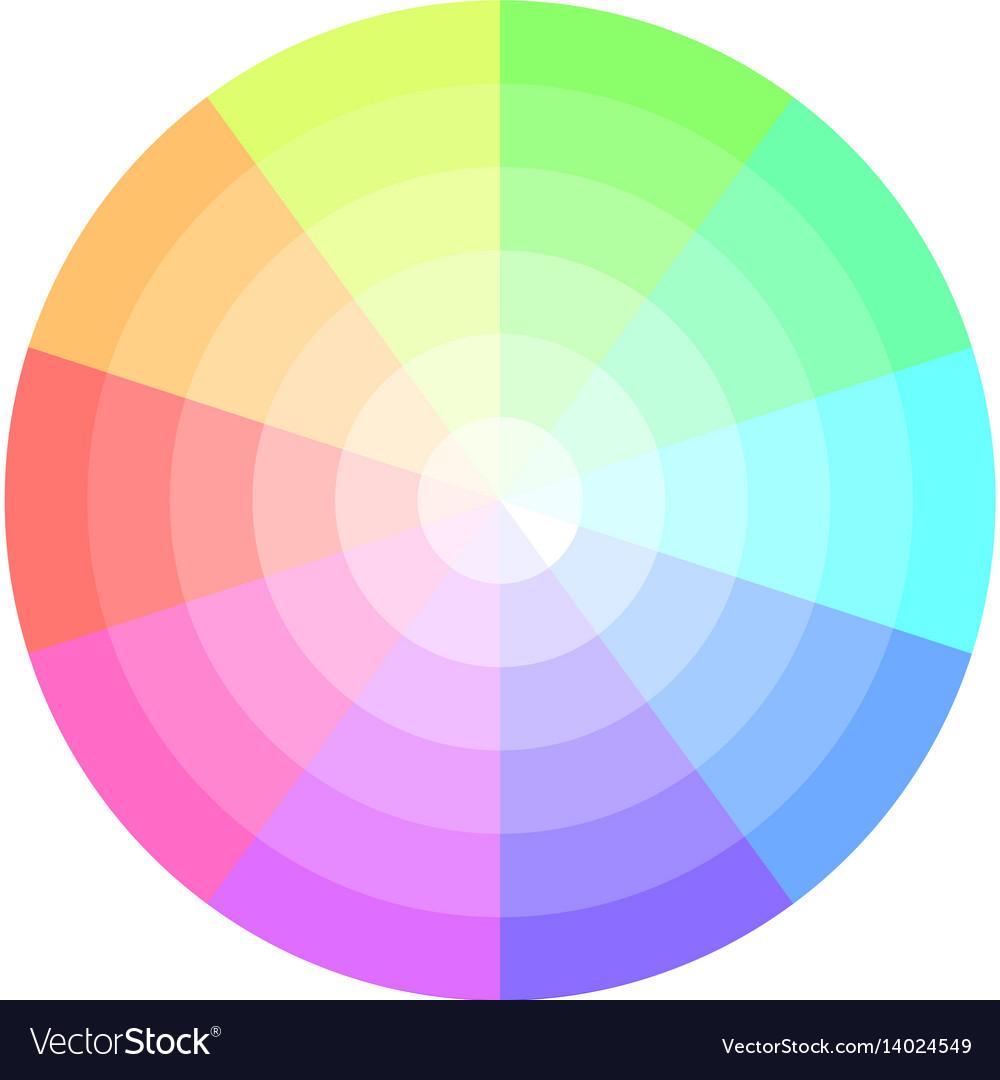 Palette Pastel Colors Pie Chart Royalty Free Vector Image