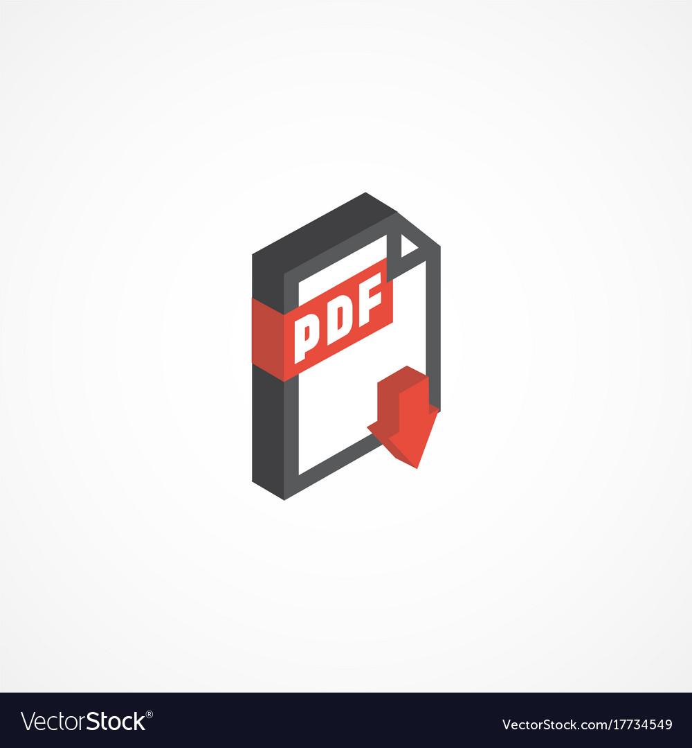 Pdf isometric icon 3d