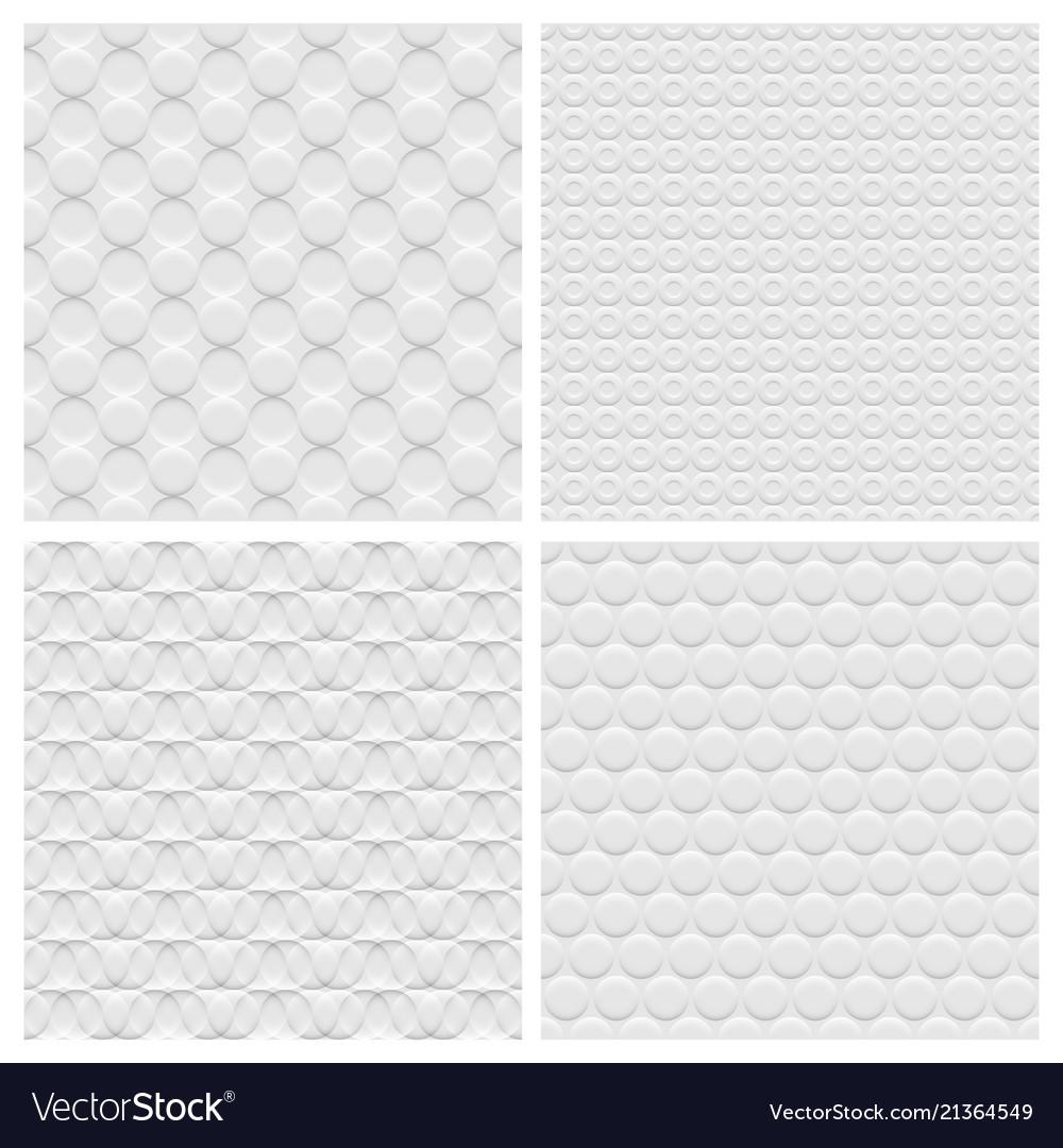 Set of four white background seamless pattern