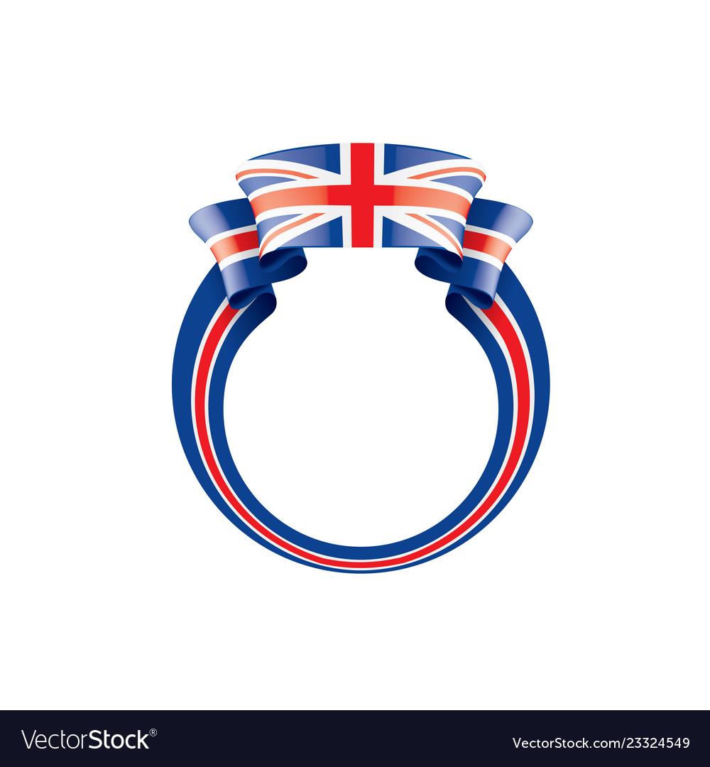United kingdom flag on a