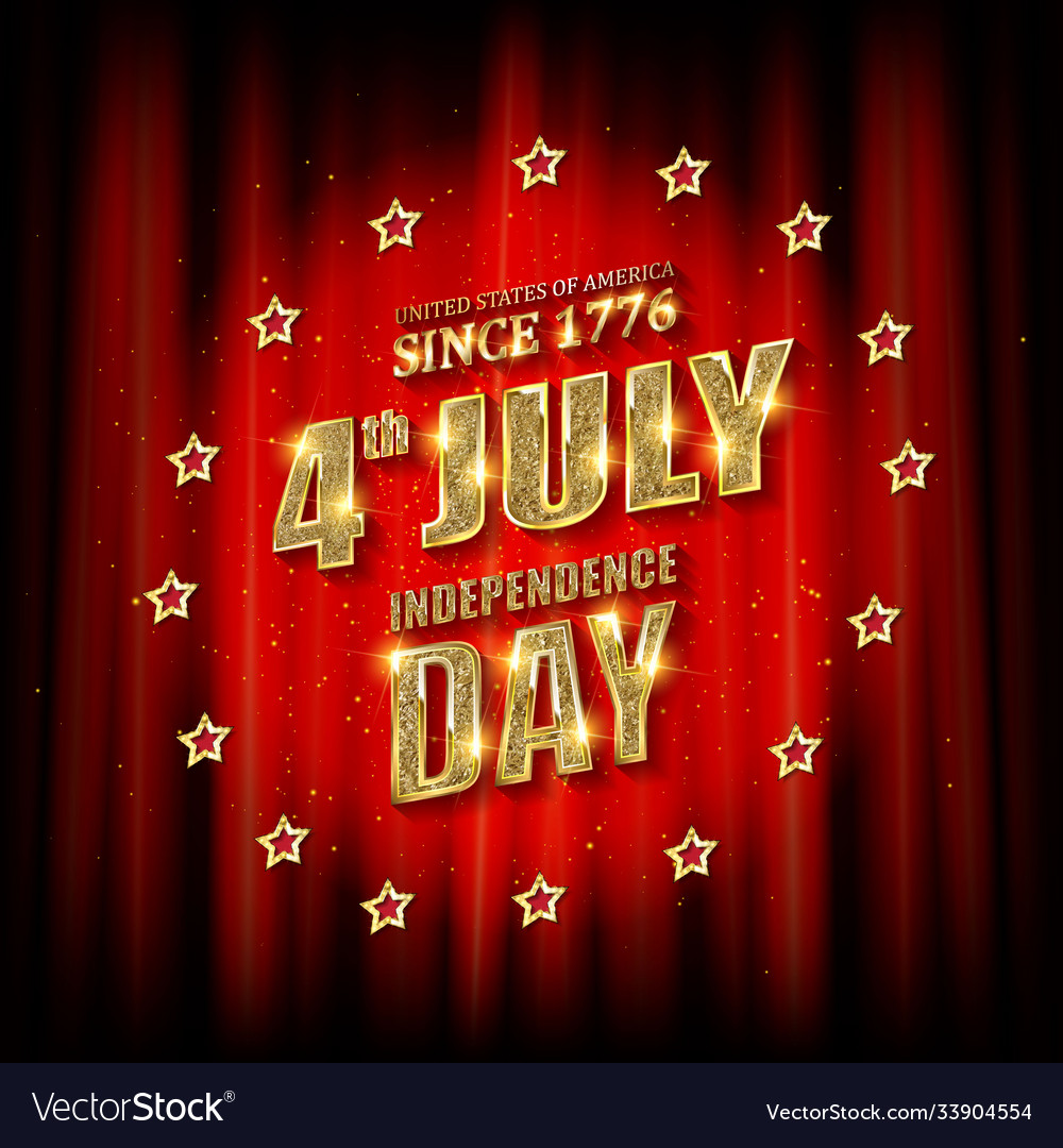 4th july american independence day badge