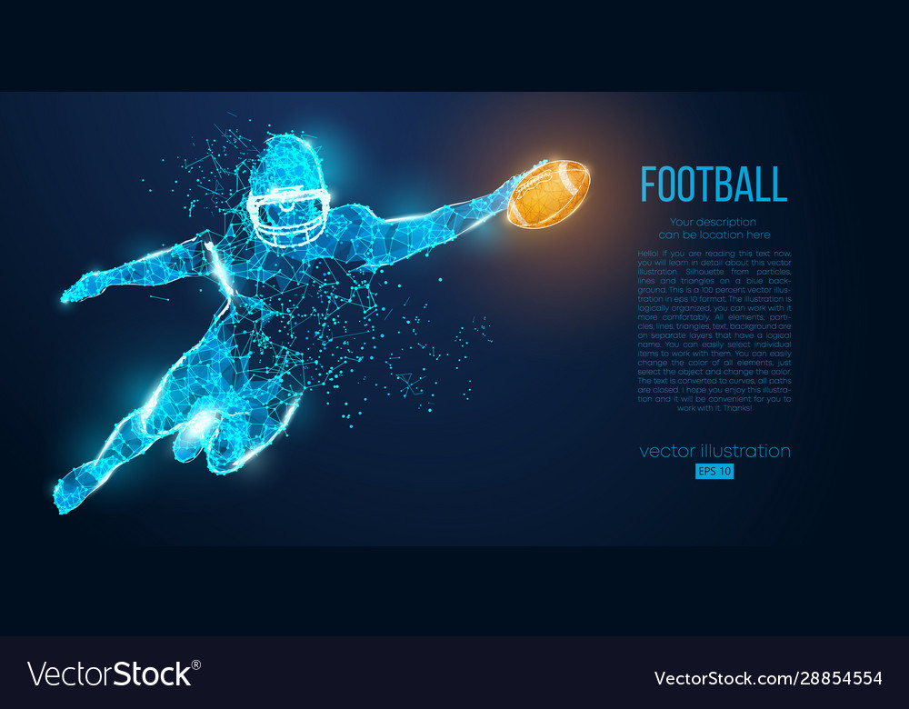 Abstract football player rugby american