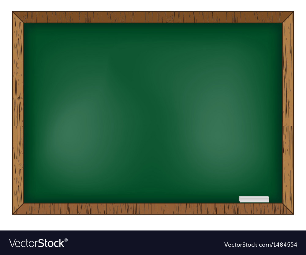 Blackboard on wooden background