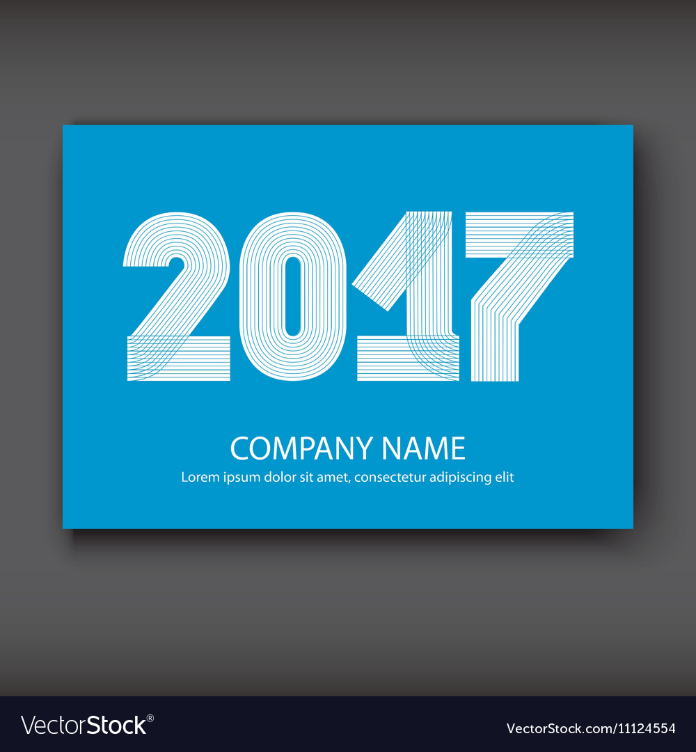 Cover Annual Report numbers 2017 modern design vector image