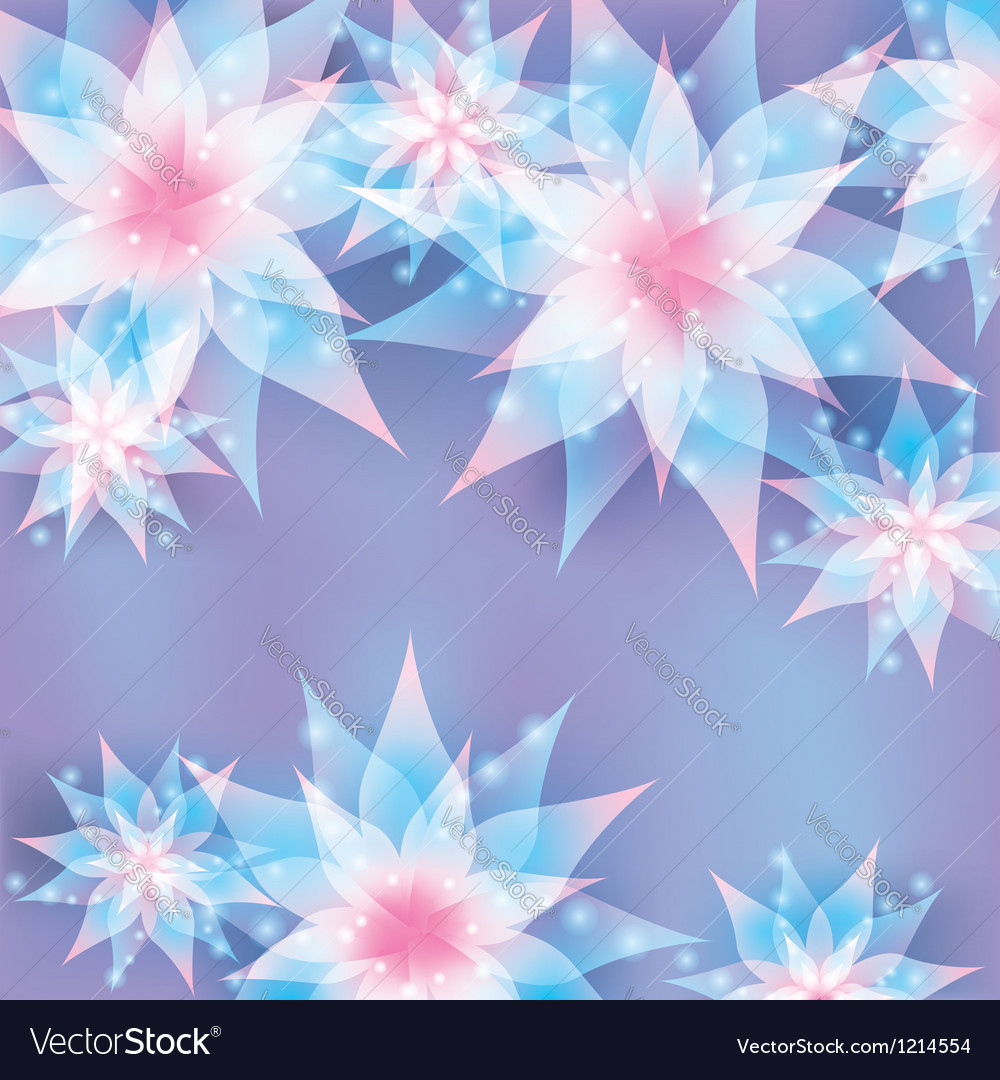 Floral background Invitation or greeting card vector image