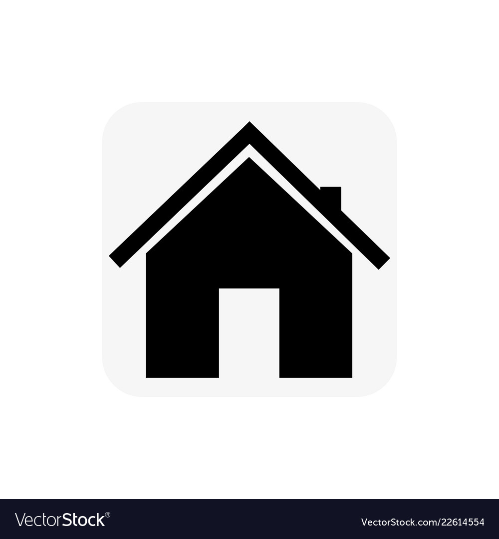 Gray Icon With A Black House On A White Background
