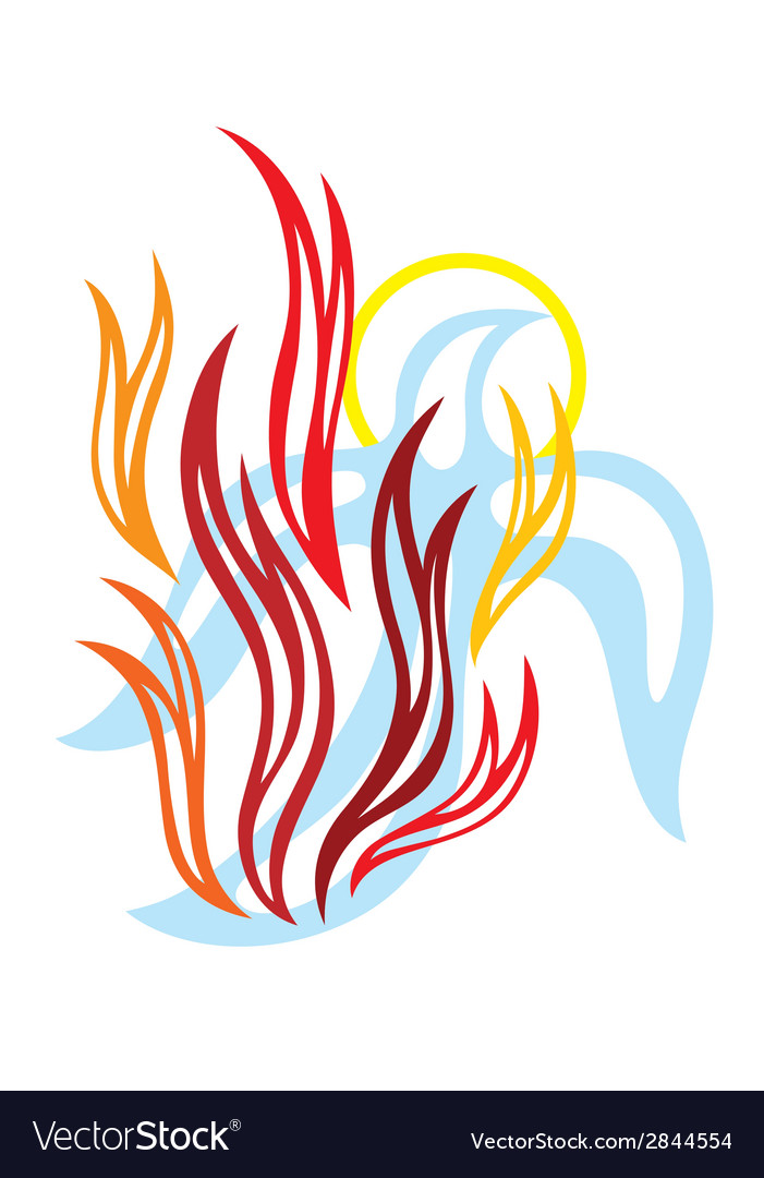 holy spirit fire royalty free vector image vectorstock