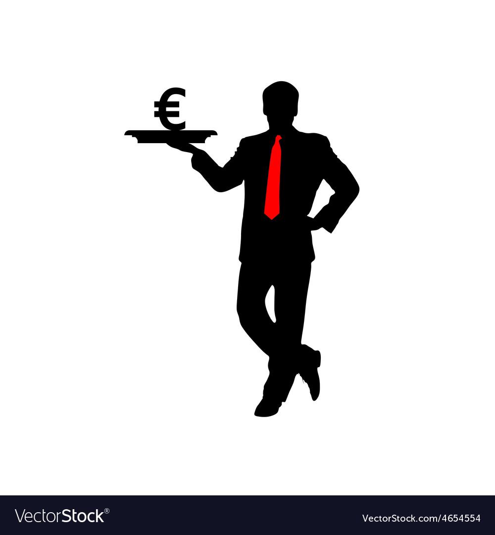 Man with euro icon