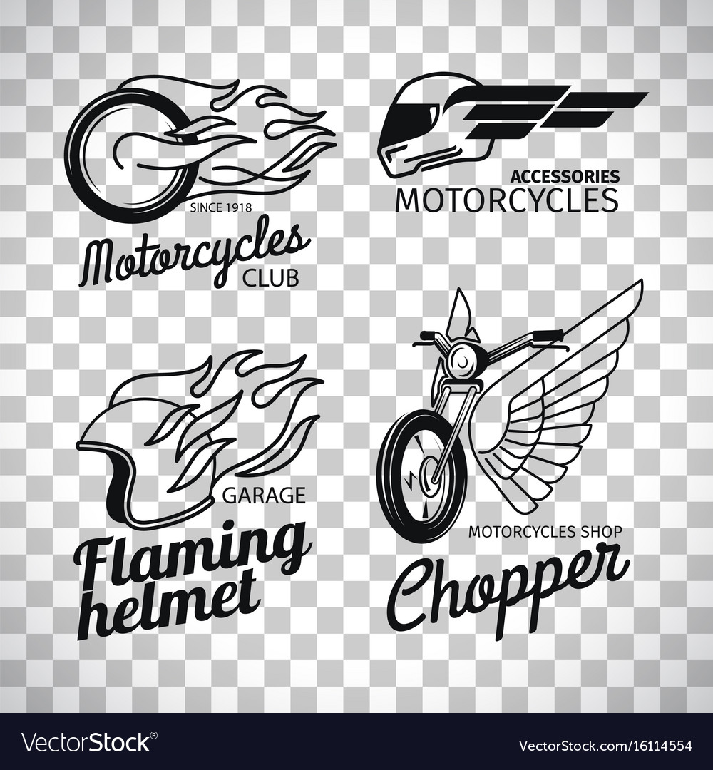 Motorcycle Race Logo On Transparent Background Vector Image