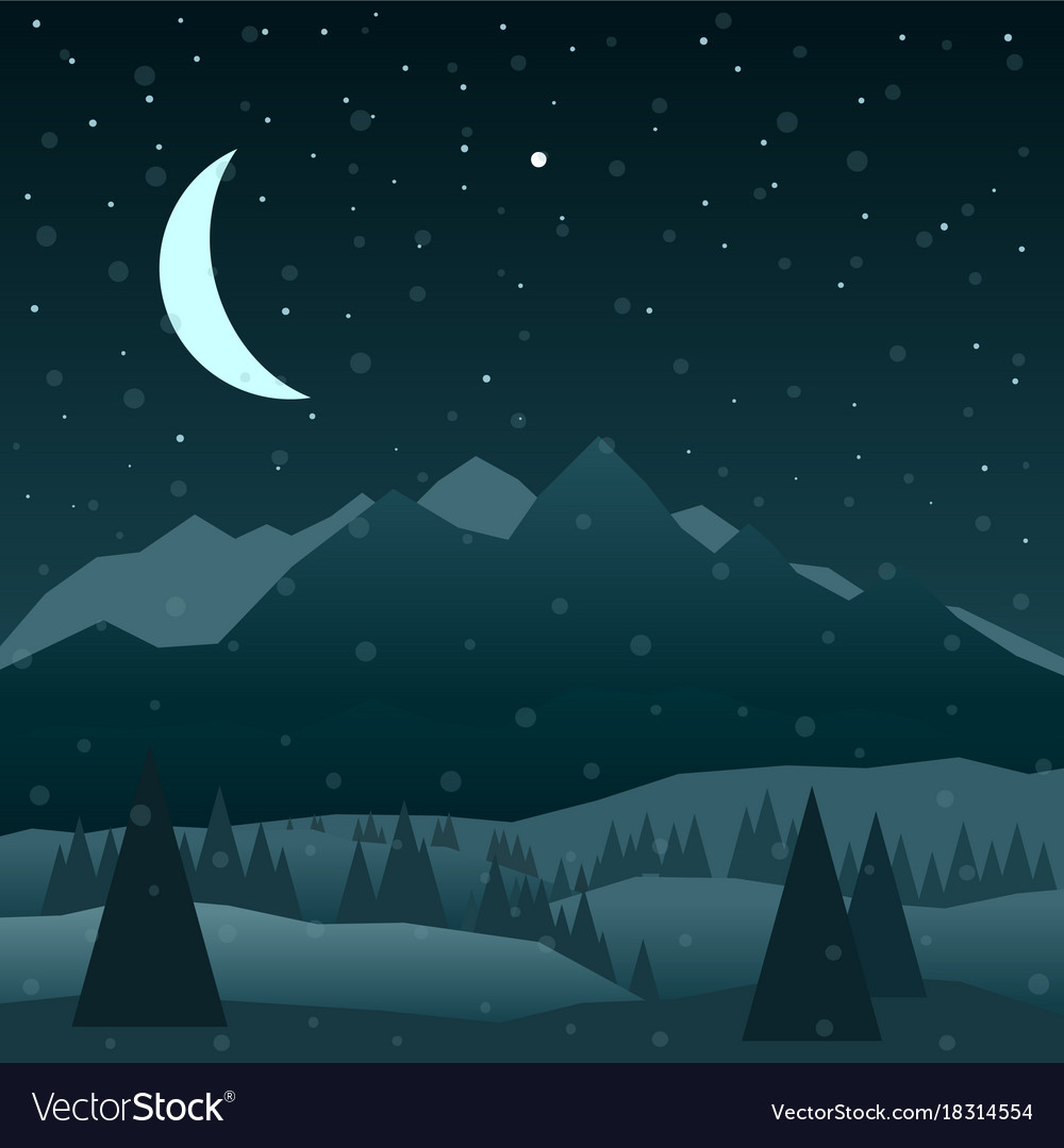 Night in mountains