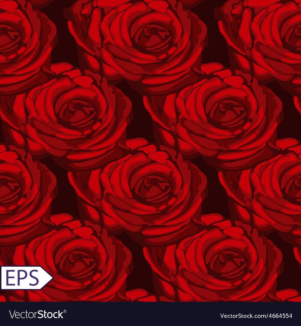 Seamless vintage rose flower pattern