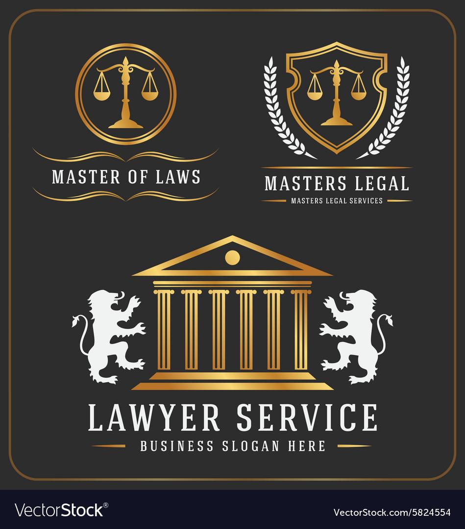 Set of lawyer service office logo template design