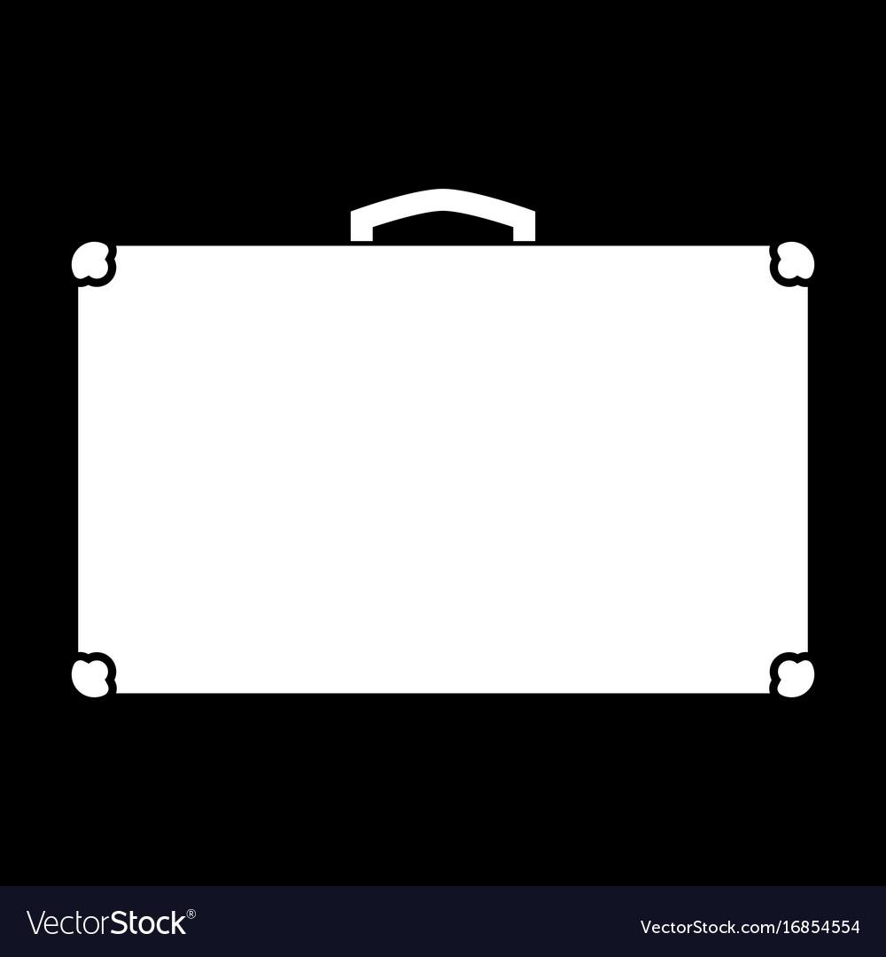 Suitcase white color icon vector image