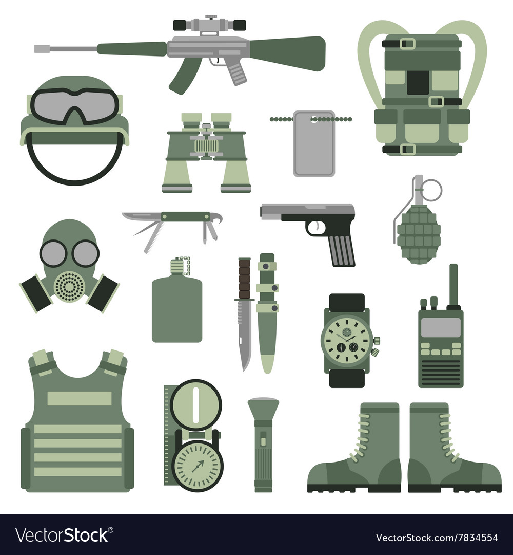 Usa Or Nato Troop Military Army Symbols Royalty Free Vector