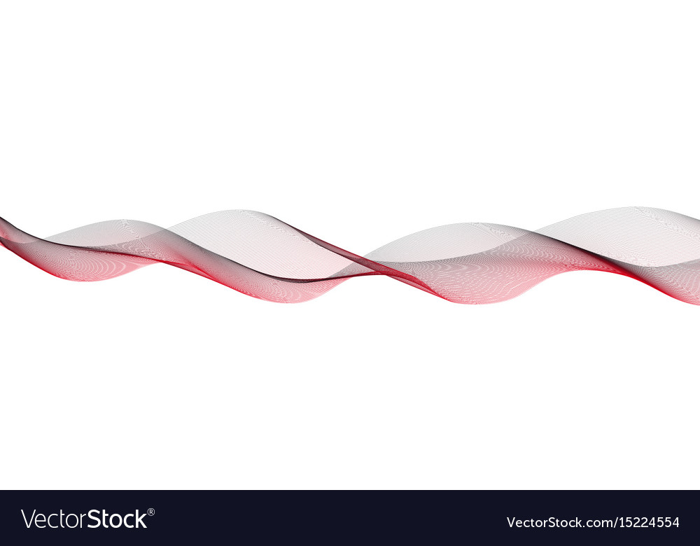 Wavy lines of red and black colors vector image