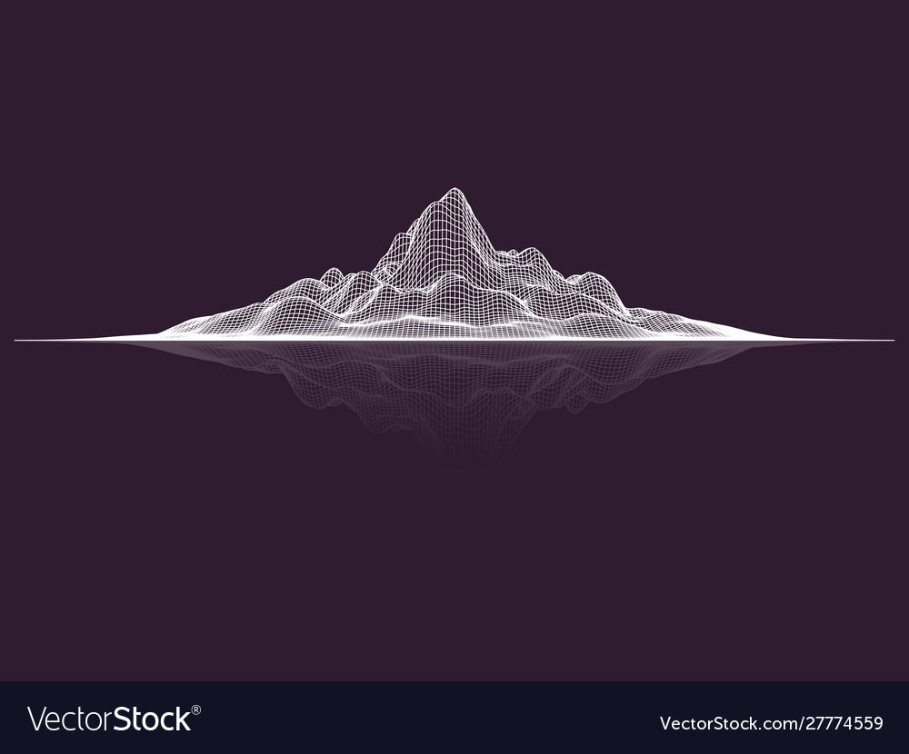 Abstract mesh landscape data visualization