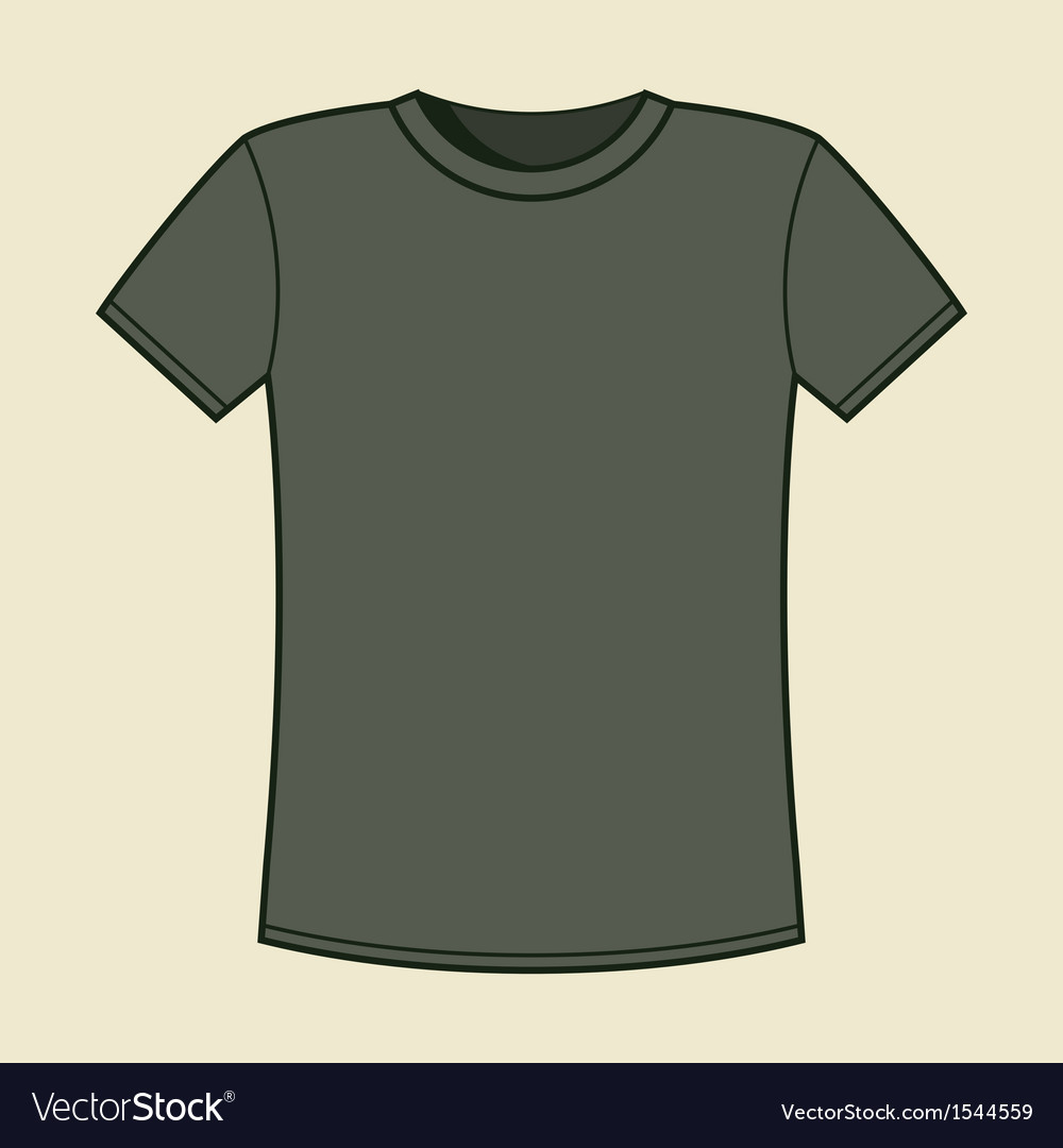 blank gray t shirt template royalty free vector image. Black Bedroom Furniture Sets. Home Design Ideas
