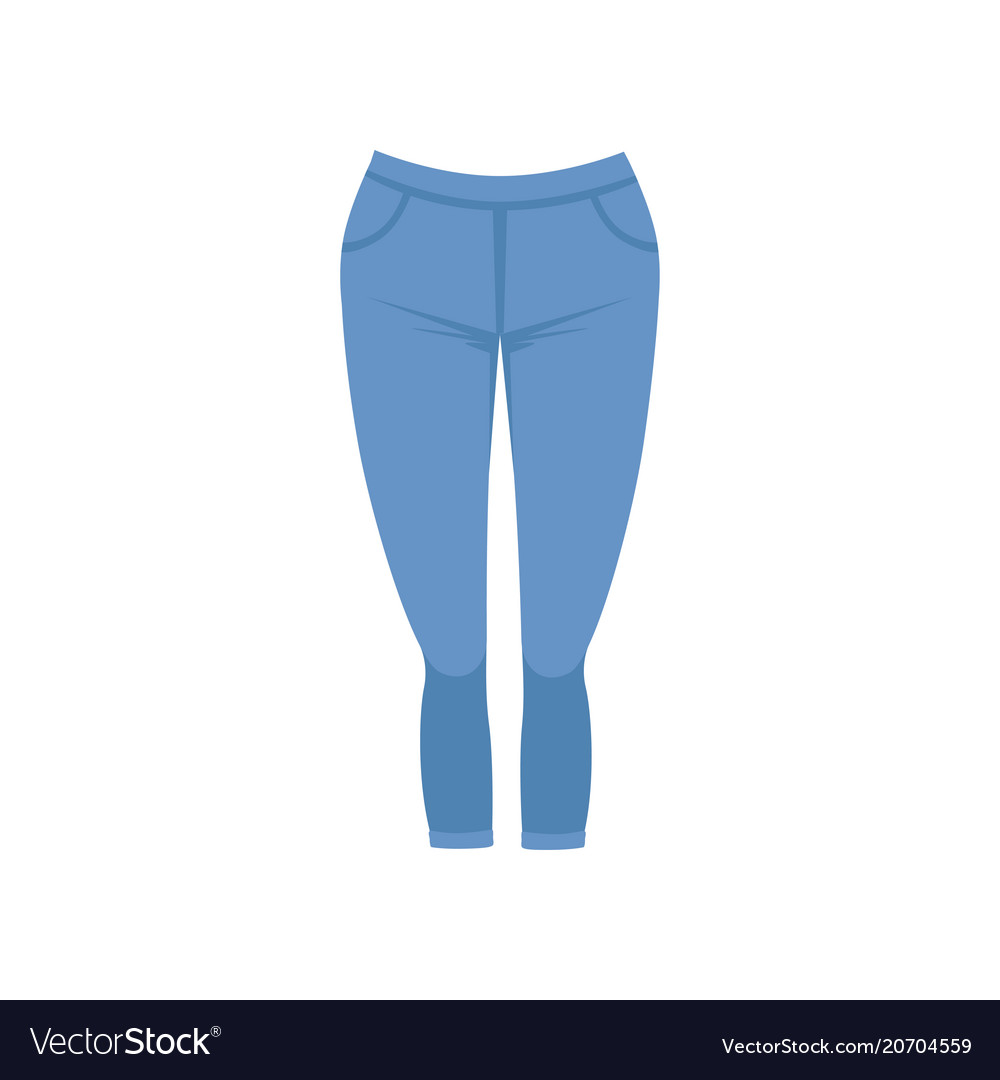 Female blue jeans womens casual clothing vector image
