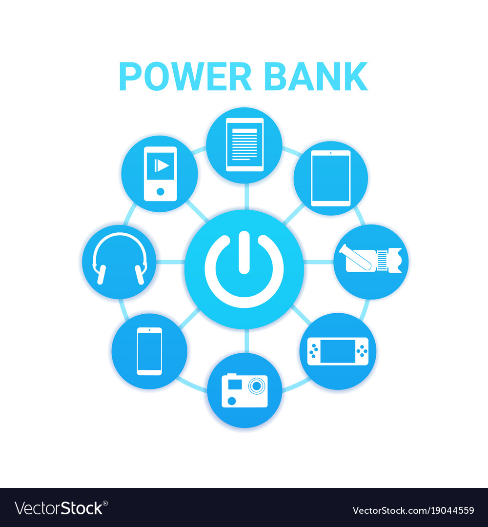 Portable cahrger power bank technology with modern