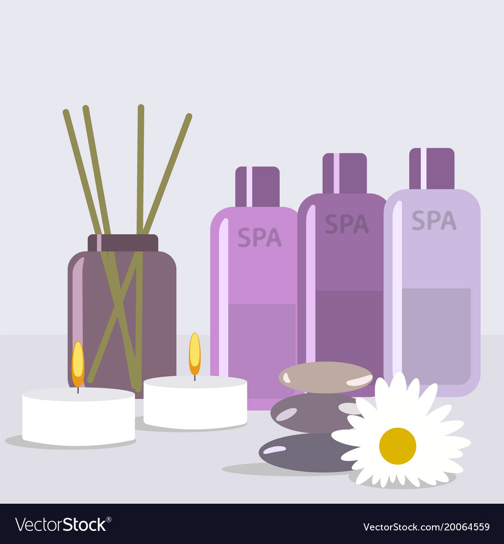 Set for spa treatments with