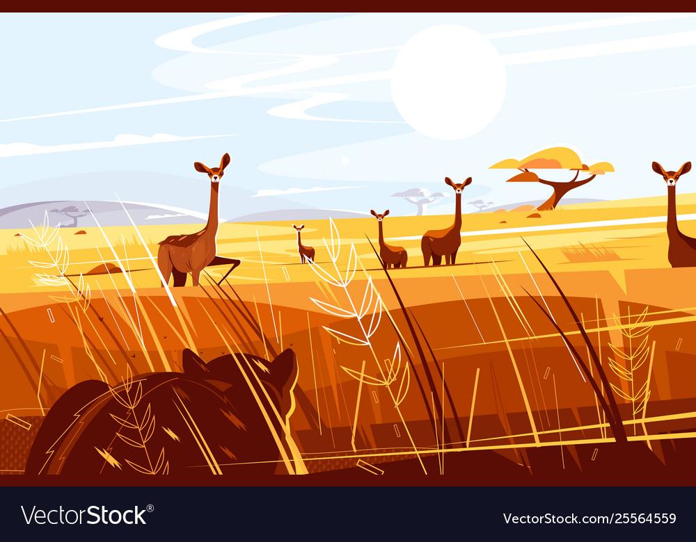 Wild picturesque savannah