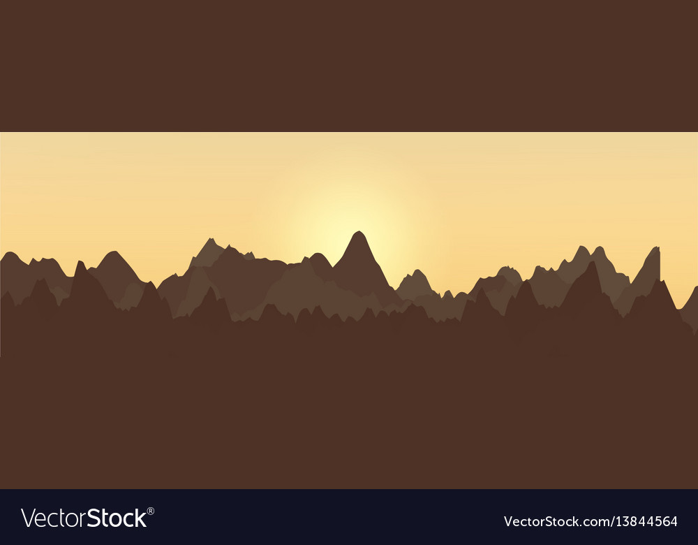 Abstract landscape design with mountains and