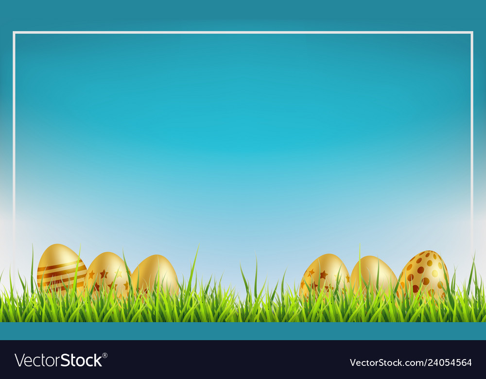 Easter sale background golden easter eggs on a