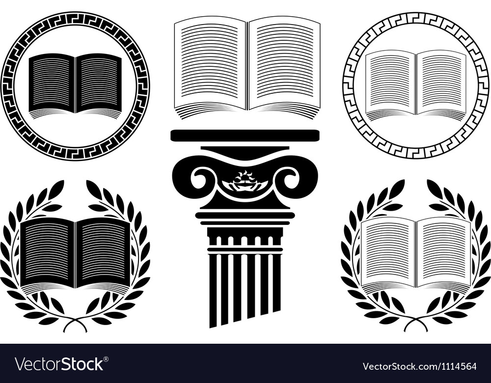 Education stencil third variant vector image