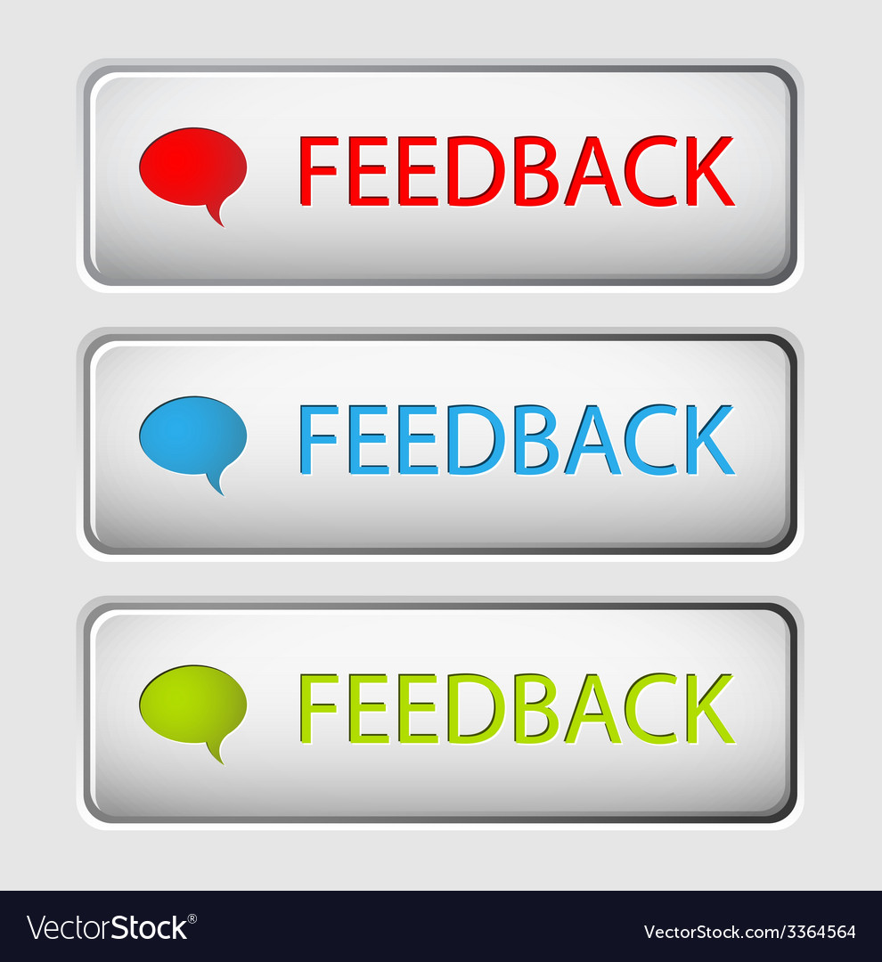 Feedback buttons vector image