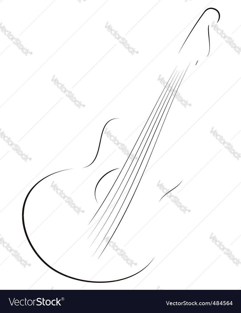 Guitar sketch vector image