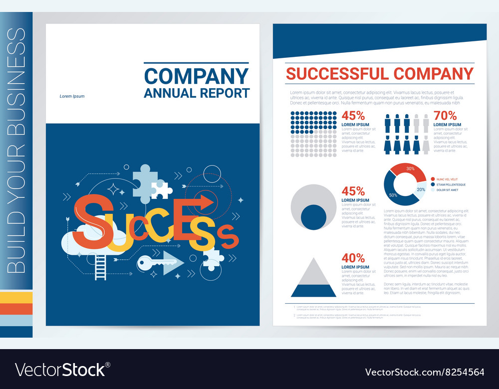 Successful compay book cover template