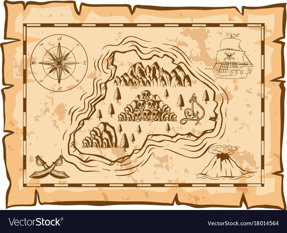 Treasure map of dead island