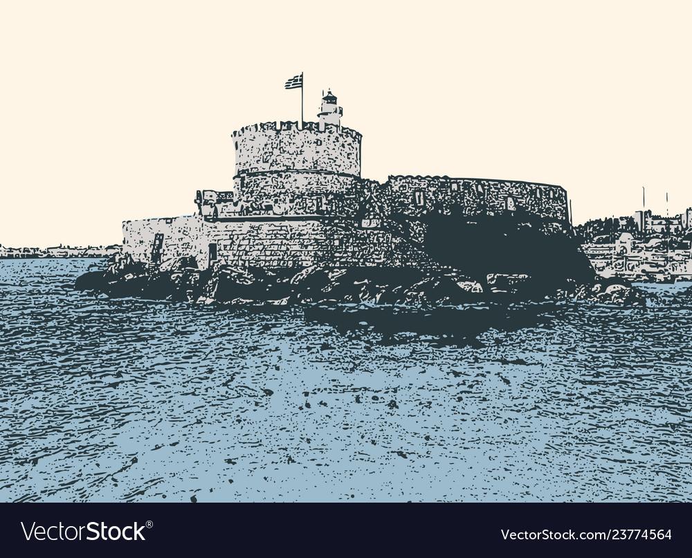 Venetian fortress in rhodes