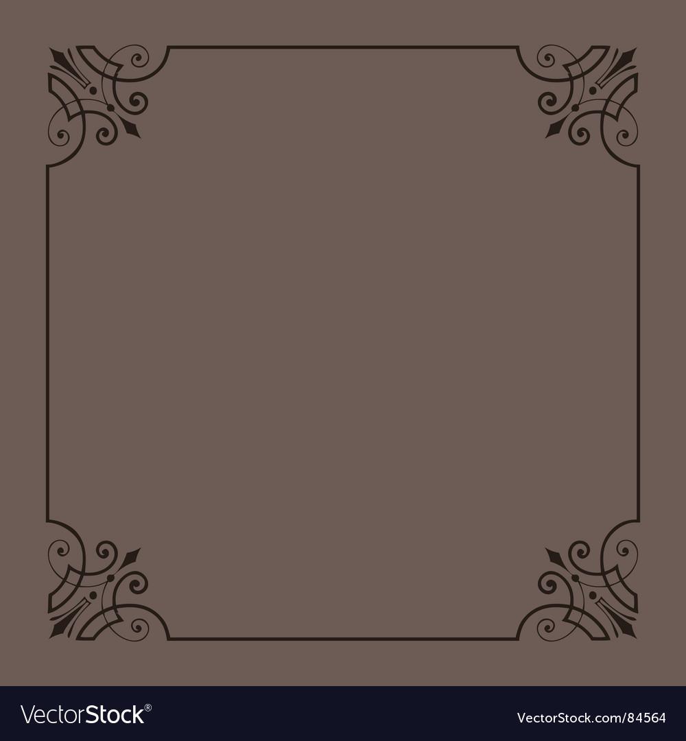 Vintage ornamental frame series vector image
