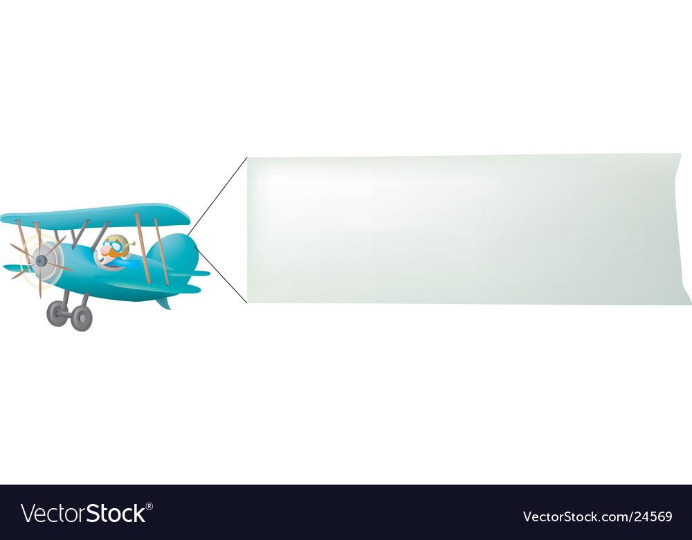 Biplane pulling sign