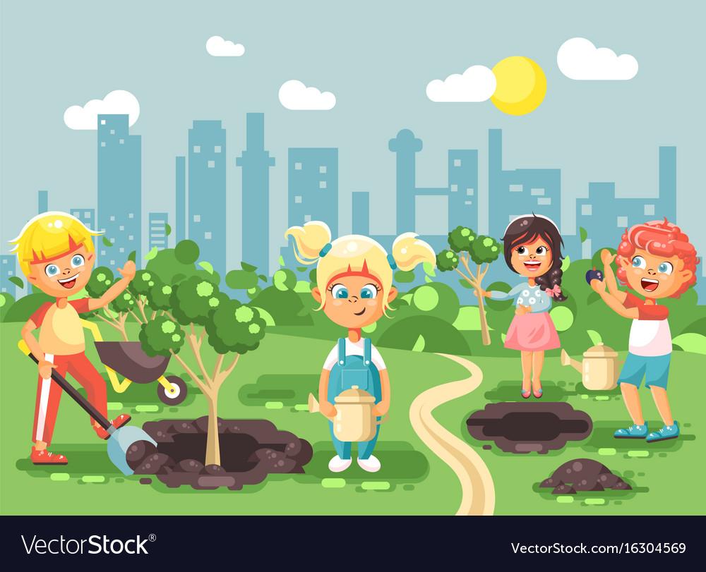Cartoon characters of children