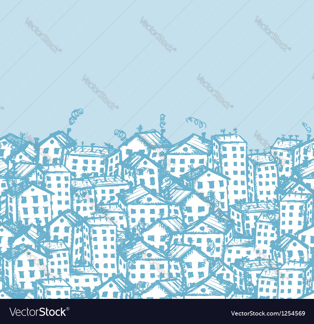 City sketch seamless background for your design