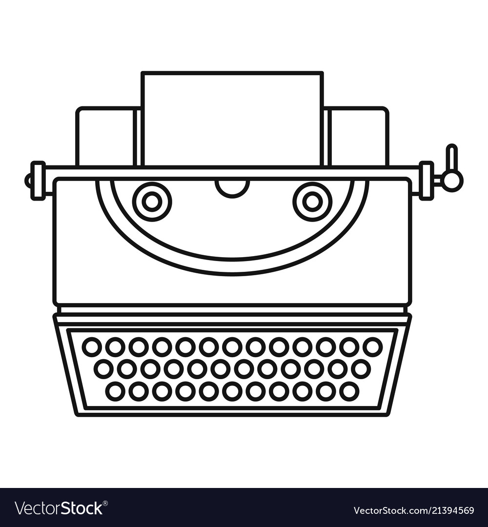 Classic typewriter icon outline style